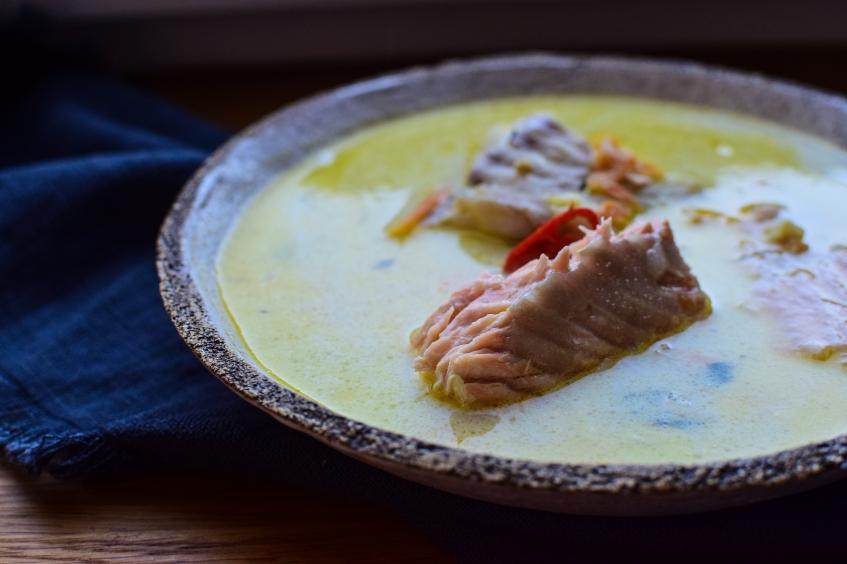 Dziękuję Było Pyszne zupa rybna zabielana