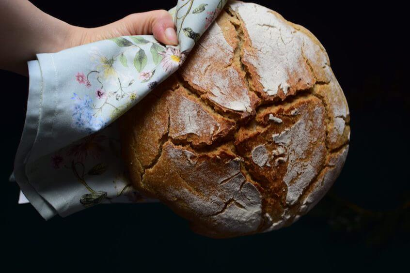 Dziękuję Było Pyszne okrągły chleb