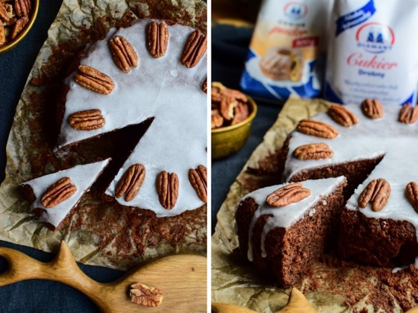 Dziękuję Było Pyszne ciasto czekoladowe z orzechami