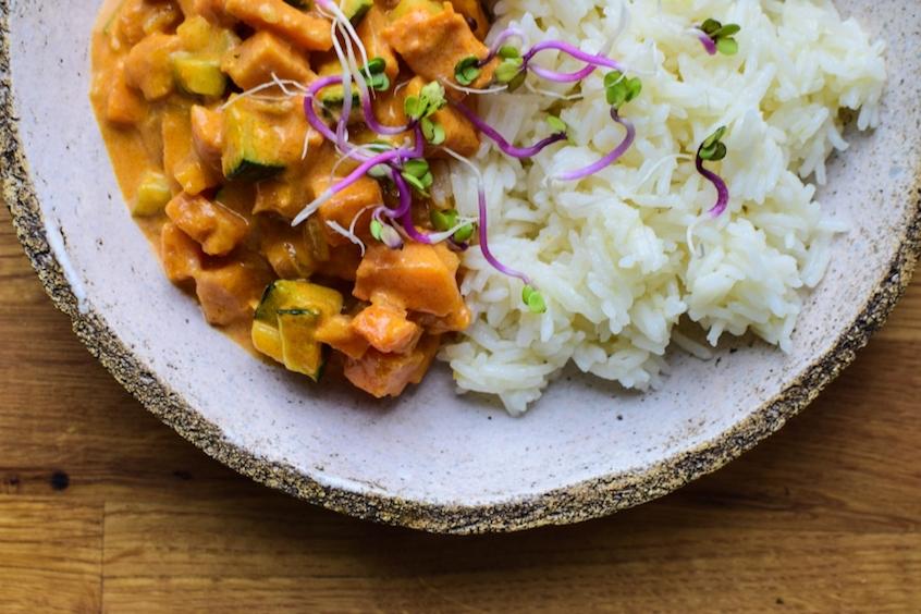 Dziękuję Było Pyszne curry bez mięsa