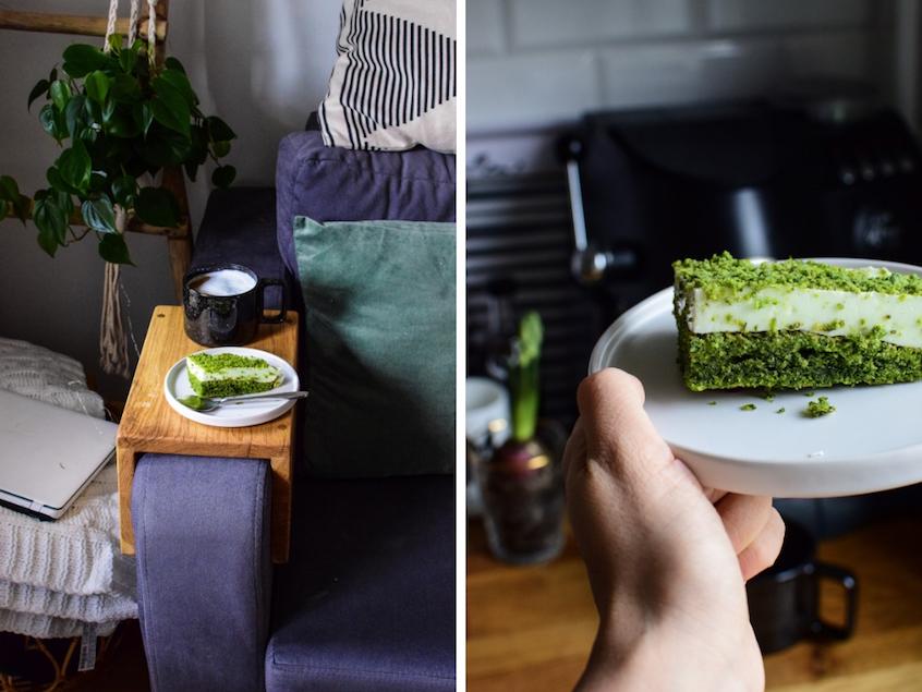 Dziękuję Było Pyszne zielone ciasto
