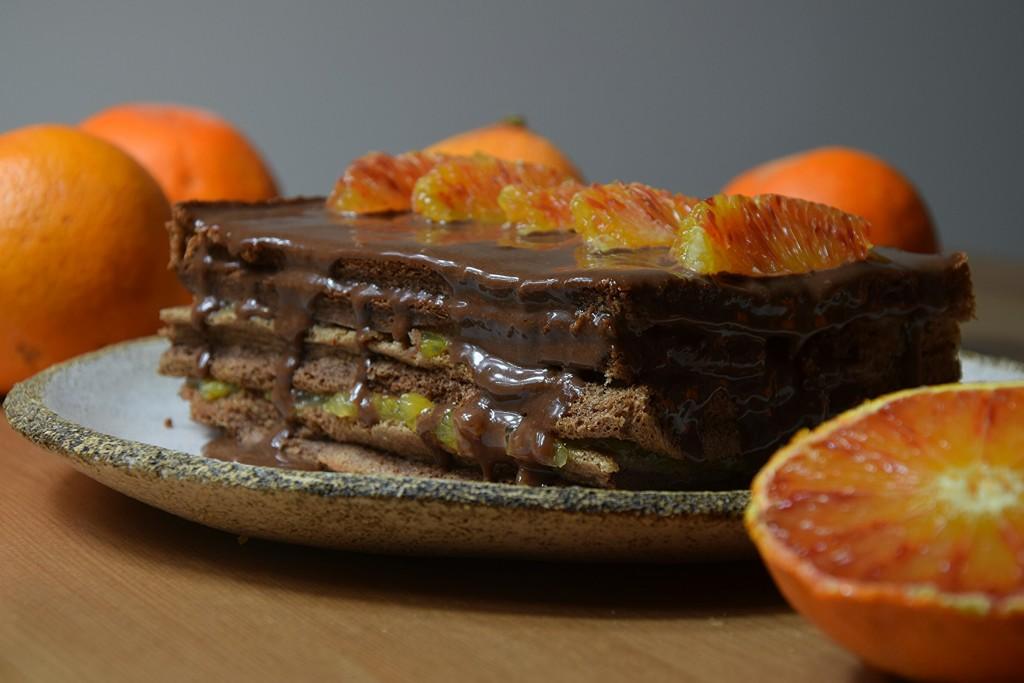 Dziękuję Było Pyszne ciasto czekoladowe z ganasz