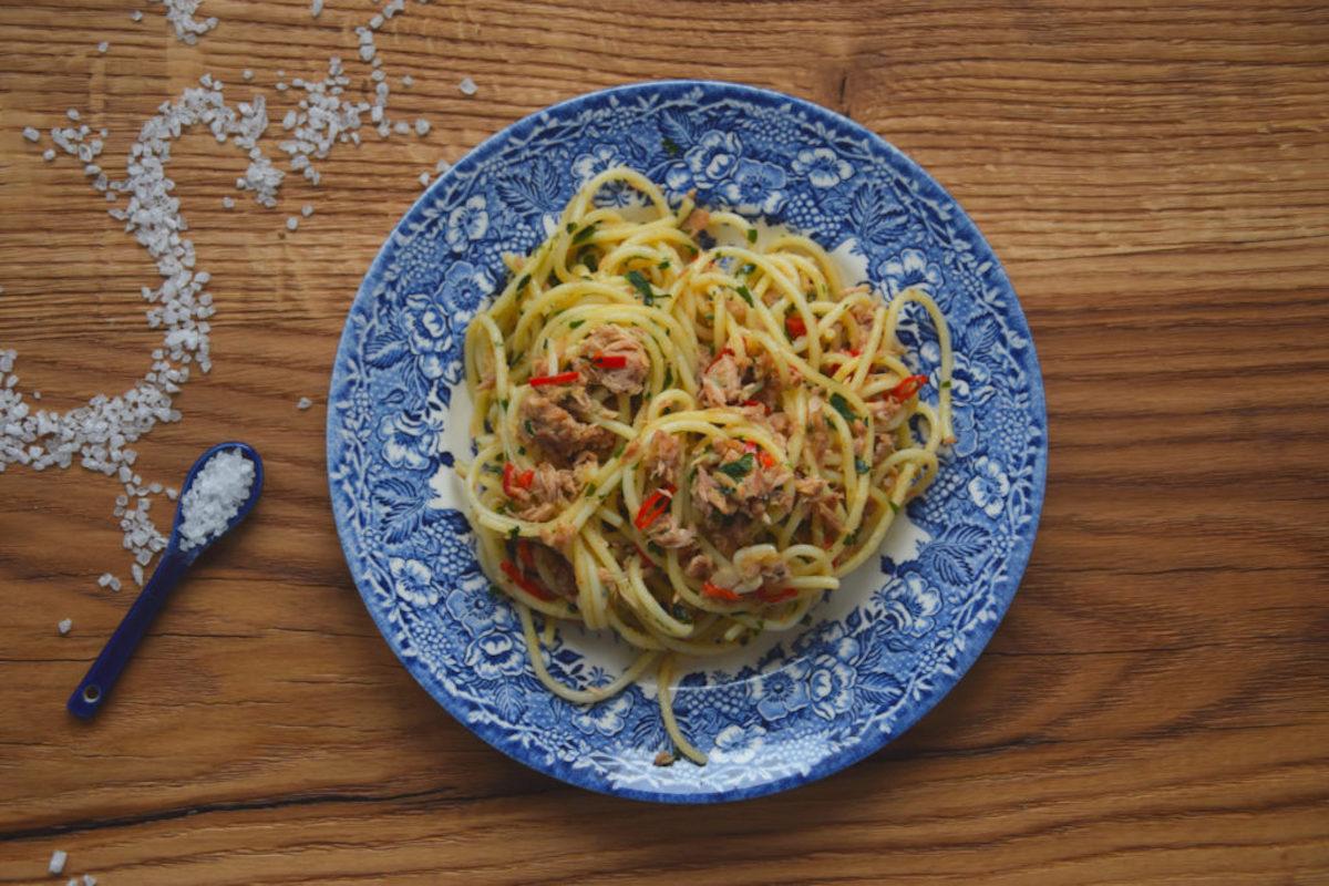 Dziękuję Było Pyszne spaghetti z tuńczykiem
