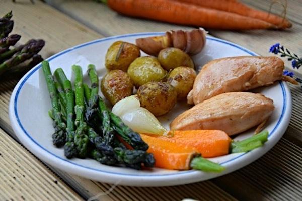 Dziękuję Było Pyszne zapiekane ziemniaczki i warzywa sezonowe